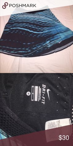 Maria Sharapova Nike Dri-Fit women's tennis skirt Limited Edition Maria Sharapova High Waisted Women's Tennis Skirt. Blue and black pattern. Worn once. Long and suitable for a tall person, but it is high waisted. Light weight with little holes for breathability. Nike Skirts Mini