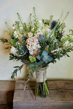 Country wedding bouquet.