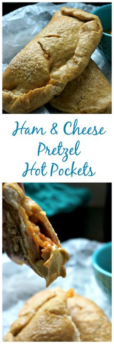 Ham and Cheese Pretzel Hot Pockets: Ham and cheese are enveloped in a soft pretzel hot pocket--perfect for dipping! Ditch store bought, and serve up these DIY gems to your family for a meal they will be begging for again and again!