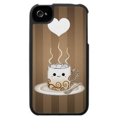 Kawaii warm cocoa drink iPhone 4 Cases, Kawaii Food & Beverages iPhone 4S Case/Cover Designs