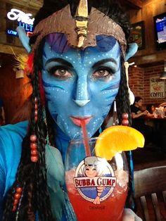 avatar, face paint, comic con, bubba gump, neytiri, alien, costume, fancy dress