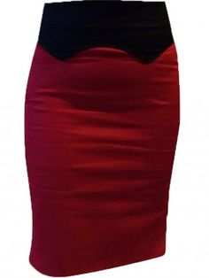 "Women's ""Dolly"" Western Skirt by Switchblade Stiletto (Red)"