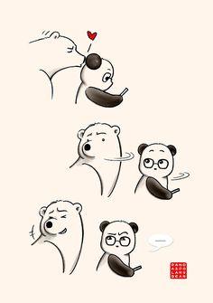 «Who, Me?» de Panda And Polar Bear