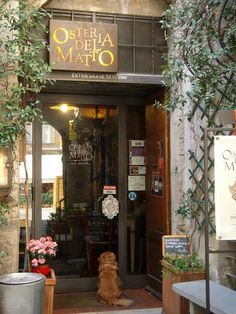 Don't walk past this door.  L'Osteria del Matto is just off the Piazza Mercato in Spoleto.  A wonderful restaurant.  Sit down and let the food come to your table - with no menu as such, but a continual stream of wonderful Umbrian delicacies. My idea of bliss - no menu to sort out!