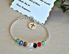 Pulseras de salvación cristal checo cubo Christian Jewelry