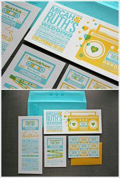 fun design, colors and ... letterpress!