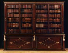 8049 – A MAGNIFICENT REGENCY ROSEWOOD, GILTWOOD AND GILTBRASS MOUNTED BOOKCASE | Carlton Hobbs New York