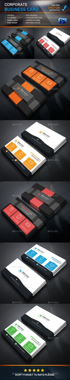 Business Card Template Bundle #design Download: http://graphicriver.net/item/business-card-bundle/12761271?ref=ksioks