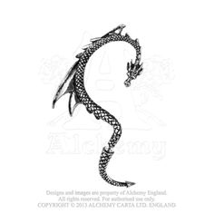 Dragon Lure Ear Wrap - Alchemy Gothic Dragon's Lure Ear Wrap for right or left ear