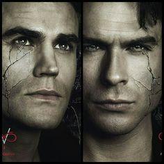 The Vampire Diaries   Stefan and Damon - Season 8 Character Poster #Defan #TVDForever
