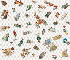 Playtime_Reading_Animals fabric by lovecats on Spoonflower - custom fabric