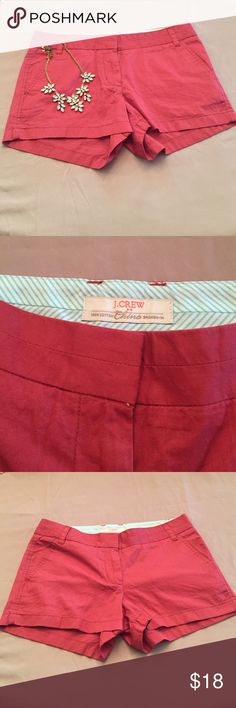 J crew burnt red orange chinos - 😍 Super darling shorts that are very versatile and can be dressed up. Color is hard to describe but close to rust. Great staple piece! J. Crew Shorts