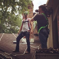 You get a harness! And you get a harness!  Because on #FixerUpper, our motto is: safety first.
