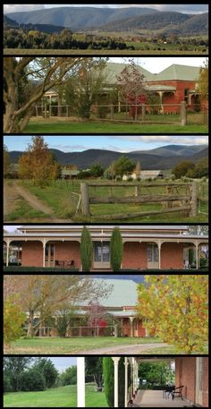 Barwidgee Homestead, Mudgegonga, was built in 1853, and is the oldest homestead in the district. It is situated near Myrtleford in the beautiful Alpine region of eastern Victoria. The first squatter in the area was William Forlonge who took up the Barwidgee pastoral run of 28,000 acres in 1848. William Forlonge (1811-1890), pastoralist and politician, was born in Scotland, the son of John Forlonge, a Glasgow merchant. His mother was the redoubtable Eliza Forlonge, a pioneer who played a… Country Home Exteriors, Country Homes, Country Life, Country Style, Australian Architecture, Historic Houses, Family Trees, My Dream Home, Villas