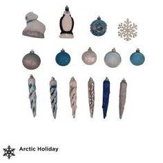 Martha Stewart Living Arctic Assorted Ornament Set (71-Set)-C-122269E at The Home Depot