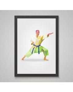 Quadro Polygonal Karate Expert