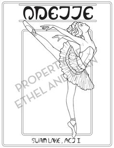 64 Best Ballet Coloring Pages Images On Pinterest In 2018 Dance
