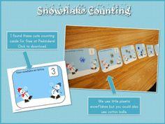 Snowflake counting mat
