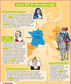 Educational infographic : Fiche exposés : Louis XIII et son entourage Ap French, French History, European History, Learn French, Teaching French, French Tenses, French Language Learning, Spanish Language, French Tips