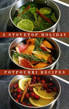 Make your home smell like the holidays with these DIY Stovetop Potpourri Recipes!