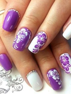 and Beautiful Nail Art Designs New Nail Designs, Colorful Nail Designs, Nail Designs Spring, Spring Nail Art, Spring Nails, Beautiful Nail Art, Gorgeous Nails, Floral Nail Art, Latest Nail Art