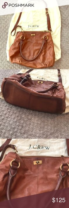 J. Crew Collection Leather Shoulder and Crossbody Brown Leather J Crew Collection Shoulder And Crossbody Bag. Pre-owned in great condition - beautiful buttery Leather! J. Crew Bags Shoulder Bags