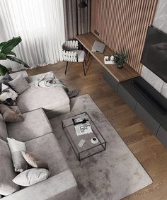 Perfect combination of aesthetics and functionality. Amazingly fused elegant furniture and modern 💡 lighting and surfaces. Living Room Tv Unit, Home Living Room, Interior Design Living Room, Living Room Designs, Living Room Modern, Kitchen Living, Kitchen Interior, Loft Interior Design, Interior Design Portfolios