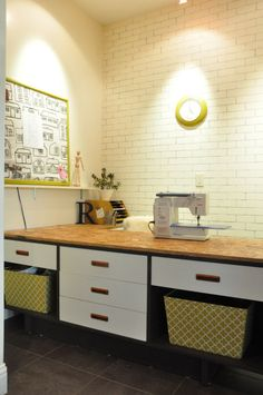 Timber and Lace: Faux White Brick Wall Tutorial