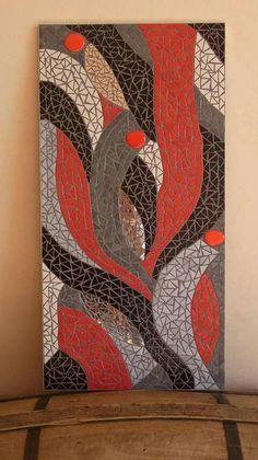Mosaic Pots, Mirror Mosaic, Mosaic Diy, Mosaic Garden, Mosaic Glass, Mosaic Tiles, Diy Mirror, Wall Paint Patterns, Painting Patterns