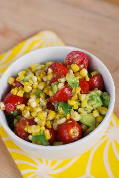 "This Corn and Avocado Salad is one of the best salads I've ever had! It's a definite ""must-make""!"