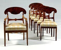 Biedermeier chairs Furniture Styles, Furniture Decor, Furniture Design, Museum Of Contemporary Art, Antique Furniture, Armchair, Dining Chairs, Interior Design, Corinthian