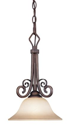 View the Jeremiah Lighting 21731 Preston Place 1 Light Bell Shaped Indoor Pendant - 9.5 Inches Wide at LightingDirect.com.