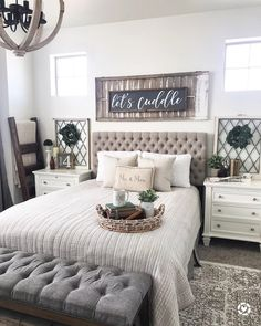 """Shandy on Instagram: """"Heyyyyyy IG people's! Went to lunch with the bestie and ran some errands. Now I'm workin' on a lil' Saturday night DIY over here. What are…"""" Bedroom Setup, Cozy Bedroom, Bedroom 2018, Bedroom Decor, Design Bedroom, Bedroom Ideas, Blue Master Bedroom, Girls Bedroom, Upstairs Bedroom"""