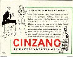 Original-Werbung/ Anzeige 1942 - CINZANO - ca. 65 x 50 mm