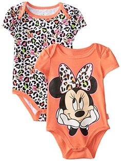 Disney Baby Baby-Girls Newborn Minnie Mouse 2 Pack Bodysuit- Peach, Orange, 6-9 Months - Minnie mouse 2 pack bodysuit with multiple colors and artworks. A great value for your precious baby - http://ehowsuperstore.com/bestbrandsales/clothing/disney-baby-baby-girls-newborn-minnie-mouse-2-pack-bodysuit-peach-orange-6-9-months