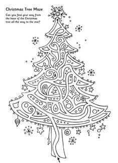 Printable Mazes for Kids Christmas Maze, Christmas Puzzle, Christmas Party Games, Christmas Crafts For Kids, Christmas Colors, All Things Christmas, Winter Christmas, Christmas Themes, Holiday Fun
