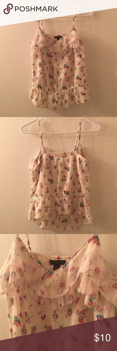 American Eagle Outfitters Tank Top Floral tank top. Great condition! Silky material. Tops Tank Tops