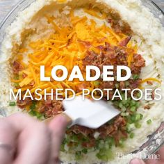 Loaded Mashed Potatoes Recipe potato al horno asadas fritas recetas diet diet plan diet recipes recipes Tasty Videos, Food Videos, Potato Dishes, Food Dishes, Vegetable Dishes, Vegetable Recipes, Vegetable Salad, Veggie Food, Loaded Mashed Potatoes