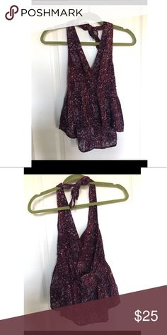 a7836c381714 Cute purple halter tank top Worn few times. Super cute top that gets lots of