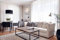 black and white living room idea