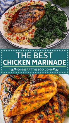 The best chicken marinade that produces tender and juicy results every time! Cheesy Recipes, Meat Recipes, Mexican Food Recipes, Cooking Recipes, Smoker Grill Recipes, Dry Rub Recipes, Dinner Recipes, Kabob Recipes, Asian Recipes