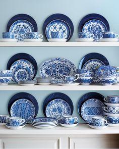 Traditional Blue & White Dinnerware - Neiman Marcus