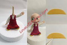 Fondant Cake Designs, Fondant Decorations, Fondant Toppers, Cake Topper Tutorial, Fondant Tutorial, Masha Et Mishka, Masha Cake, Homemade Polymer Clay, Fondant People