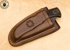 Spyderco Endura 4 Knife with Leather Friction by LeodisLeather, £110.00