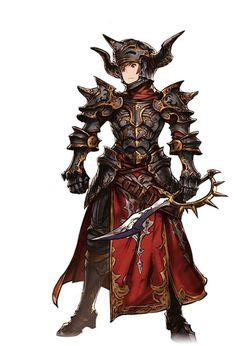 グランブルーファンタジー Game Character Design, Fantasy Character Design, Character Concept, Character Inspiration, Character Art, Fantasy Armor, Anime Fantasy, Medieval Fantasy, Armor Concept