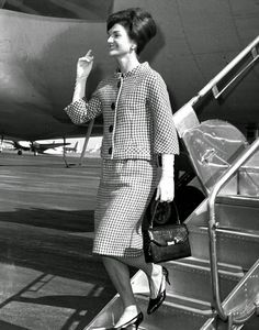 THE FLIGHT Jacqueline Kennedy, née Bouvier, First Lady of The United States of America (1929-1994)