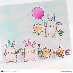 "Mama Elephant ""Party Animals"" Pop up Card"