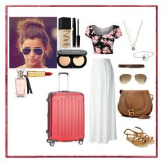 """""""traveling outfit"""" by manakda on Polyvore featuring Philipp Plein, Chloé, Ray-Ban, Abercrombie & Fitch, Rebecca Minkoff, Kenneth Cole, Accessorize, NARS Cosmetics, Bobbi Brown Cosmetics and Isaac Mizrahi"""
