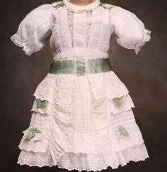 """Antique Doll dress for doll 25-26"""""""