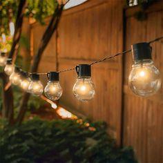 Solar Led String Lights, Patio String Lights, Globe String Lights, Solar Patio Lights, Backyard Lighting, Outdoor Lighting, Outdoor Hanging Lights, Porch Lighting, Outdoor Decorative Lights